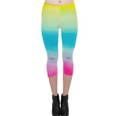 Watercolour Gradient Capri Leggings