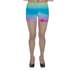 Watercolour Gradient Skinny Shorts