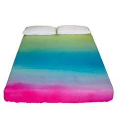 Watercolour Gradient Fitted Sheet (California King Size)