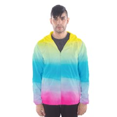Watercolour Gradient Hooded Wind Breaker (Men)