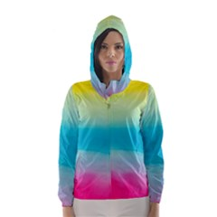 Watercolour Gradient Hooded Wind Breaker (Women)