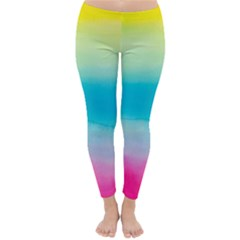 Watercolour Gradient Classic Winter Leggings