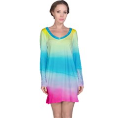 Watercolour Gradient Long Sleeve Nightdress