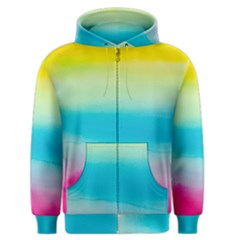 Watercolour Gradient Men s Zipper Hoodie