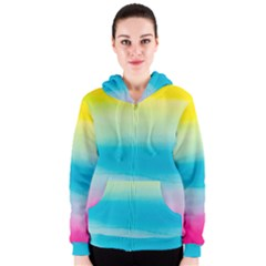 Watercolour Gradient Women s Zipper Hoodie