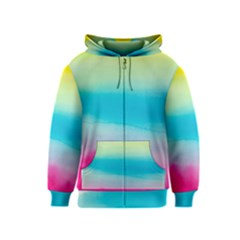 Watercolour Gradient Kids  Zipper Hoodie