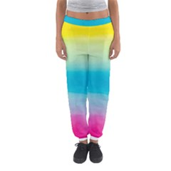 Watercolour Gradient Women s Jogger Sweatpants