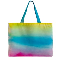 Watercolour Gradient Zipper Mini Tote Bag