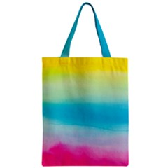 Watercolour Gradient Zipper Classic Tote Bag