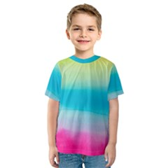 Watercolour Gradient Kids  Sport Mesh Tee