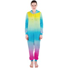 Watercolour Gradient Hooded Jumpsuit (Ladies)