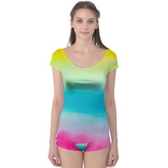 Watercolour Gradient Boyleg Leotard