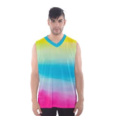 Watercolour Gradient Men s Basketball Tank Top