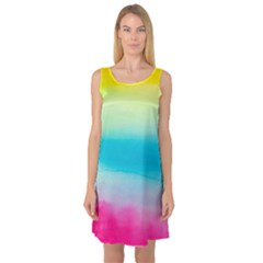 Watercolour Gradient Sleeveless Satin Nightdress