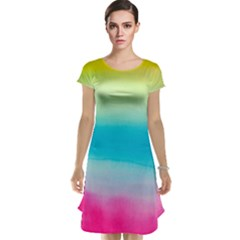 Watercolour Gradient Cap Sleeve Nightdress