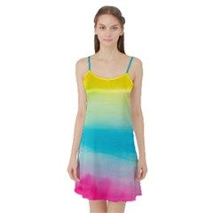 Watercolour Gradient Satin Night Slip