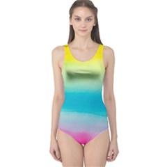 Watercolour Gradient One Piece Swimsuit
