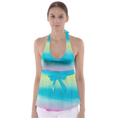 Watercolour Gradient Babydoll Tankini Top