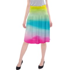 Watercolour Gradient Midi Beach Skirt