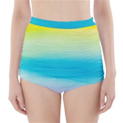 Watercolour Gradient High-Waisted Bikini Bottoms