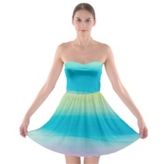 Watercolour Gradient Strapless Bra Top Dress