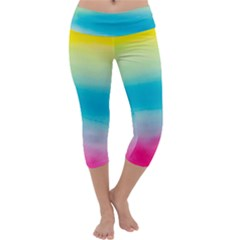 Watercolour Gradient Capri Yoga Leggings