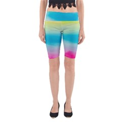 Watercolour Gradient Yoga Cropped Leggings