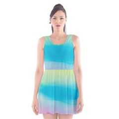 Watercolour Gradient Scoop Neck Skater Dress