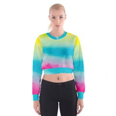 Watercolour Gradient Women s Cropped Sweatshirt