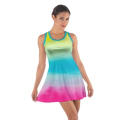Watercolour Gradient Cotton Racerback Dress