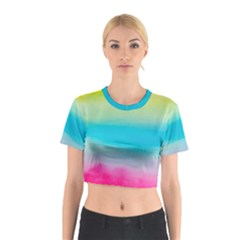 Watercolour Gradient Cotton Crop Top