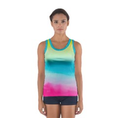 Watercolour Gradient Women s Sport Tank Top