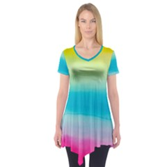 Watercolour Gradient Short Sleeve Tunic