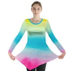 Watercolour Gradient Long Sleeve Tunic
