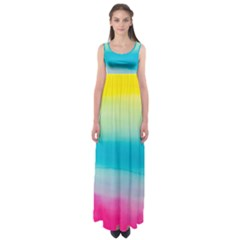 Watercolour Gradient Empire Waist Maxi Dress