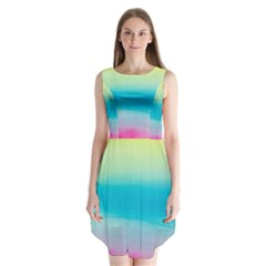 Watercolour Gradient Sleeveless Chiffon Dress