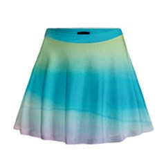 Watercolour Gradient Mini Flare Skirt