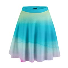Watercolour Gradient High Waist Skirt