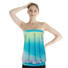 Watercolour Gradient Strapless Top