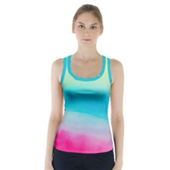 Watercolour Gradient Racer Back Sports Top