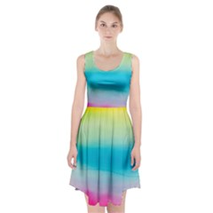 Watercolour Gradient Racerback Midi Dress