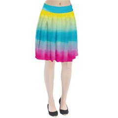 Watercolour Gradient Pleated Skirt