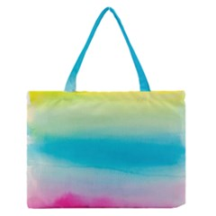 Watercolour Gradient Medium Zipper Tote Bag