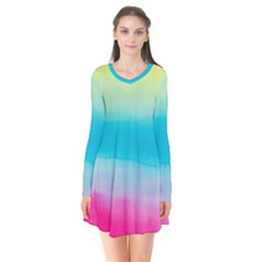 Watercolour Gradient Flare Dress