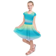 Watercolour Gradient Kids  Short Sleeve Dress