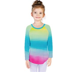 Watercolour Gradient Kids  Long Sleeve Tee