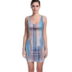 Vertical Abstract Contemporary Sleeveless Bodycon Dress