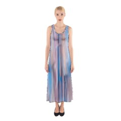 Vertical Abstract Contemporary Sleeveless Maxi Dress