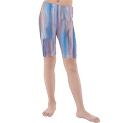 Vertical Abstract Contemporary Kids  Mid Length Swim Shorts