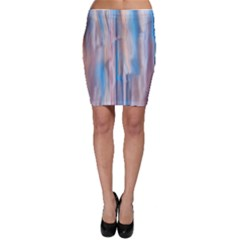 Vertical Abstract Contemporary Bodycon Skirt